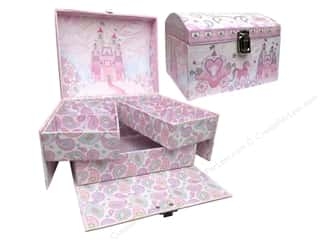 Boxes and Organizers Gifts & Giftwrap: Punch Studio Boxes Organizer Organizer Case Princess Sparkle