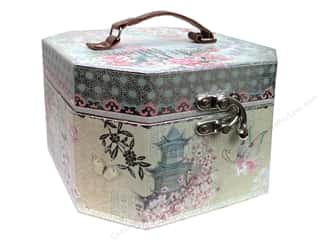 Punch Studio Organizer Octagon Vanity Haiku Blossoms