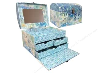 Punch Studio Organizer Treasure Trunk Paisley Peacock