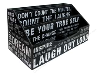 Punch Studio Organizer Desk Caddy Inspired Words