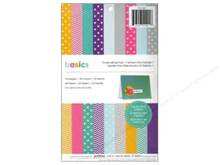 "Pebbles Inc 5"": Pebbles Paper Pad Basics Cardmaking 5.5""x 8.5"""