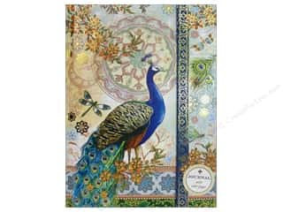 Magnets Blue: Punch Studio Journal Royal Peacocks