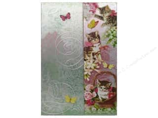 Clearance Pine Ridge Art List Pads: Punch Studio Journal Mini  Metallic Playful Kittens