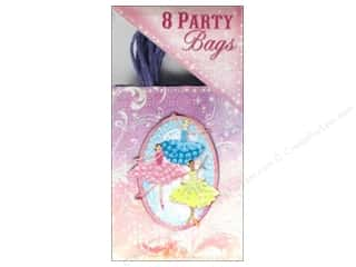 Raffia: Punch Studio Party Bags Ballerinas 8 pc.