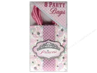 "Party Favors 7"": Punch Studio Party Bags Princess Sparkle 8 pc."