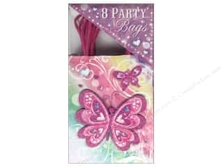 Punch Studio Party Bags Butterfly Rainbow 8 pc.