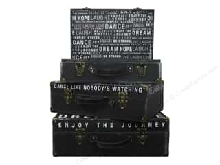 Gifts Black: Punch Studio Nesting Boxes Valet Cases Inspired Words