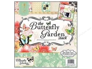 DieCuts with a View Clearance: Die Cuts With A View 12 x 12 in. Paper Stack Butterfly Garden