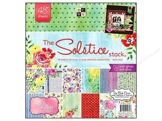 Clearance Die Cuts with a View Stacks: Die Cuts 12 x 12 in. Paper Stack Solstice