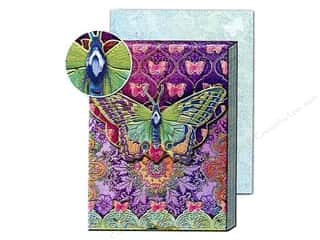 Gifts Pads: Punch Studio Pocket Note Pad Patchwork Rainbow Butterfly (2 pads)