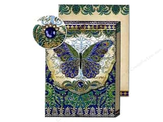 Gifts Pads: Punch Studio Pocket Note Pad Patchwork Peacock Butterfly (2 pads)