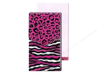 Magnets Animals: Punch Studio Pocket Note Pad Large Fuchsia Foil Animal