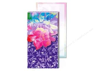 Gifts Black: Punch Studio Pocket Note Pad Large Deep Blue Foil Flower