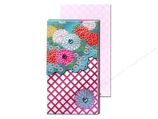 Punch Studio Pocket Note Pad Large Teal Foil Mums