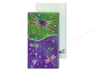 Rhinestones $6 - $25: Punch Studio Pocket Note Pad Large Metallic Green Dragonfly