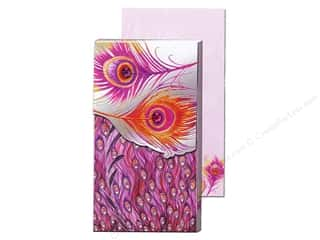 Magnets Punch Studio Decorative Magnet: Punch Studio Pocket Note Pad Large Silver Foil Feather