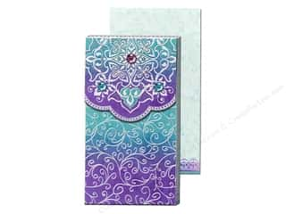 Blue: Punch Studio Pocket Note Pad Large Rainbow Foil Floral