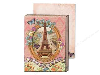 brown ink pad: Punch Studio Pocket Note Pad Window Vintage Paris (2 sheets)