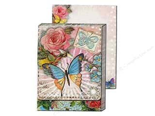 Punch Studio Pocket Note Pad Window AntiqueBttrfly (2 sheets)