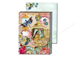 brown ink pad: Punch Studio Pocket Note Pad Window Whimsy Birdcage (2 sheets)