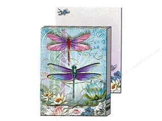 brown ink pad: Punch Studio Pocket Note Pad Window Blue Dragonfly (2 sheets)