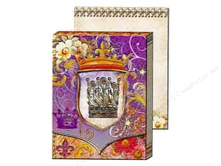 brown ink pad: Punch Studio Pocket Note Pad Window Royal Crown (2 sheets)