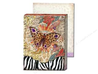 brown ink pad: Punch Studio Pocket Note Pad Window Safari Pattern (2 sheets)