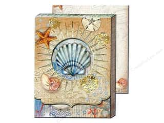 brown ink pad: Punch Studio Pocket Note Pad Window Tiny Seashell (2 sheets)