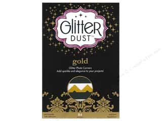 Therm-O-Web Glitter Dust Photo Corners Gold 84pc