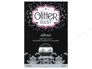 Photo Corners: Therm-O-Web Glitter Dust Photo Corners Silver 84pc