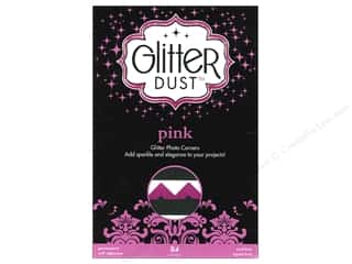 Therm O Web Interfacings: Therm-O-Web Glitter Dust Photo Corners Pink 84pc