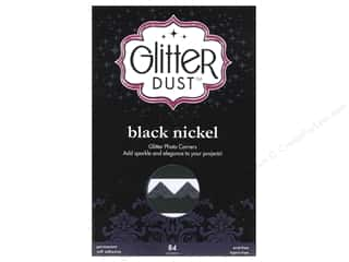 Photo Corners Black: Therm-O-Web Glitter Dust Photo Corners Black Nickel 84pc