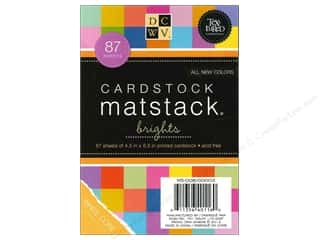 Die Cuts 4 1/2 x 6 1/2 in. Cardstock Mat Stack Brights