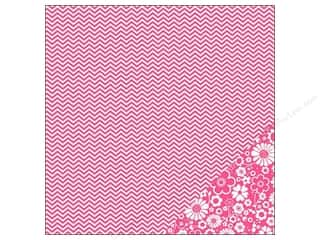 Pebbles Paper 12x12 Basics Begonia Chevron (25 piece)