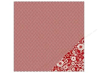 Pebbles Paper 12x12 Basics Rouge Chevron (25 piece)