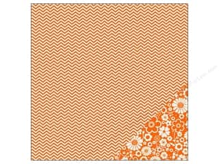 Pebbles Paper 12x12 Basics Apricot Chevron (25 piece)