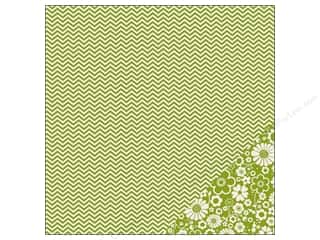 Pebbles Paper 12x12 Basics Leaf Chevron (25 piece)