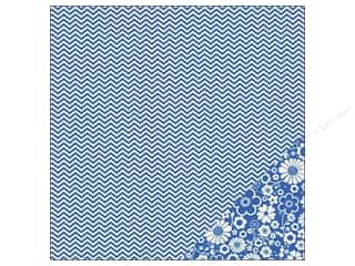 Pebbles Paper 12x12 Basics Marine Chevron (25 piece)