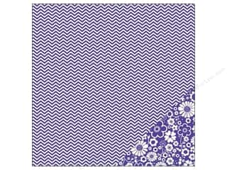 Pebbles Paper 12x12 Basics Purple Chevron (25 piece)