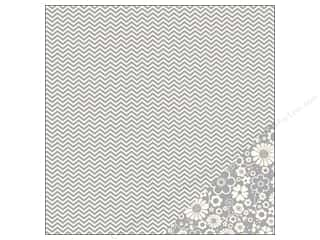 "Pebbles Inc $4 - $12: Pebbles Paper 12""x 12"" Basics Ash Chevron (25 pieces)"