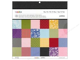 "Pebbles Inc Flowers: Pebbles Paper Pad 12""x 12"" Basics"