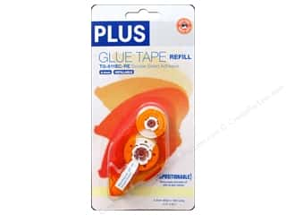 Plus Scrapbooking & Paper Crafts: Plus Glue Tape Double Side 8.4 mm Repositionable Refill 52 ft.