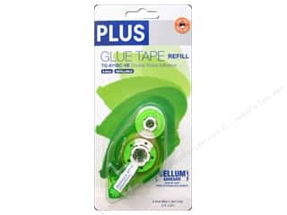 Plus: Plus Glue Tape Double Side 8.4mm Vellum Refill 52 ft.