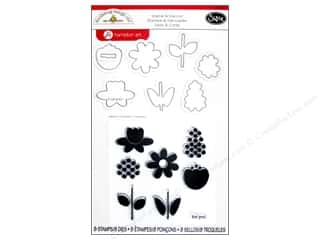 Tulip inches: Sizzix Framelits Die Set 8 PK with Stamps Bloom by Doodlebug
