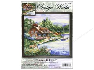 Design Works Cross Stitch Kit 15 x 15 in. Lakeside Cabin