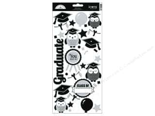Back to School: Doodlebug Stickers Cardstock Icons Cap & Gown
