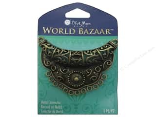 Blue Moon Connector World Bazaar U Filigree 12 Loop Oxidized Brass