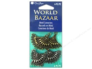 Blue Moon Connector World Bazaar Metal Fans Oxidized Silver/Oxidized Brass