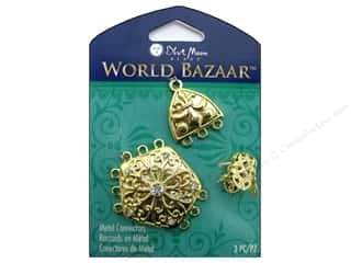 Clearance Blumenthal Favorite Findings: Blue Moon Metal Connectors Gold Pentagon & Triangle 3 pc.