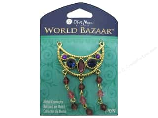 Blue Moon Beads Metal Connector Gold Half Moon